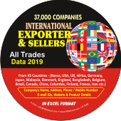 37,000 International Exporters &  Sellers Data - In Excel Format