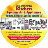 3,085 Kitchen Equipments & Appliances Data - In Excel Format