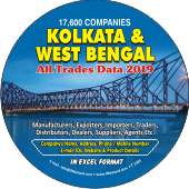 17,600 Kolkata & West Bengal  (All Trades) Data - In Excel Format