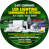 5,407 LED, Lighting, Luminaries  & Fittings Data - In Excel Format