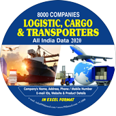 8,000 Logistic, Cargo & Transporters  (All India) Data - In Excel Format