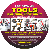 11,000 Power, Cutting, Electric  & Hand Tools Data - In Excel Format