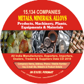 15,134 Metals, Minerals & Alloys  (All India) Data - In Excel Format