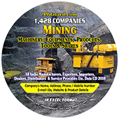 1428 Companies - Mining Machinery, Equipments, Products, Tools & Spares - 2018