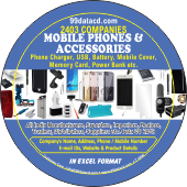 2,403 Mobile Phone Accessories  & Chargers Data - In Excel Format