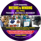 2,219 Motors & Winding Products & Spare Parts Data - In Excel Format
