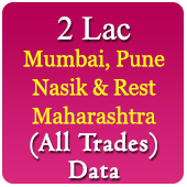 2 Lac Companies From Mumbai, Pune, Nagpur, Nasik & Rest Maharashtra Related To All Trades / Industries Data - In Excel Format