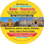 44,282 Mumbai, Pune, Nasik & Rest  Maharashtra Data - In Excel Format