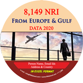 8,149 NRI From Europe & Gulf Countries Data - In Excel Format