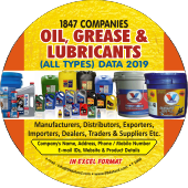 1,847 Oil, Grease & Lubricants (All Types) Data - In Excel Format