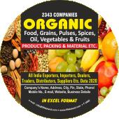 2,343 Organic Foods, Grains, Pulses  & Vegetables  Data - In Excel Format