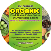 Organic Foods, Grains,  Vegetables  Data