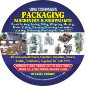 1,894 Packaging Machinery & Equipments Data - In Excel Format