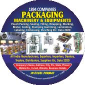 Packaging Machinery & Equipments Data