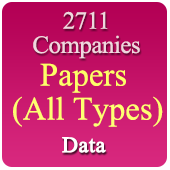 Paper (All Types) Materials & Machinery Data