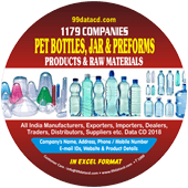 Pet Bottles, Jar & Preforms  Products Data