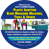 Plastic Injection, Blow Moulding Machines Tools & Spare Data