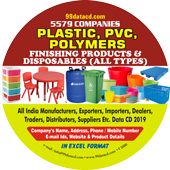 Plastic, PVC,  Polymers Finishing   Products & Disposables Data