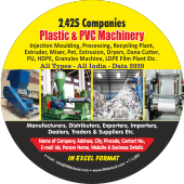 2,425 Plastic & PVCMachinery Data - In Excel Format