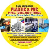 1,587 Plastic & PVC Pipes, Tubes & Fittings  Data - In Excel Format