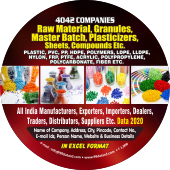 4,042 Plastic, PVC, PP, HDPE Raw Materials, Granules, Masterbatch,  Compounds Data - In Excel Format