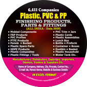 6,411 Plastic,PVC & PP Finishing Products Data - In Excel Format