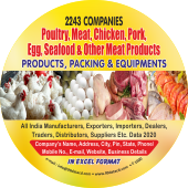 2,243 Poultry, Meat, Chicken, Sea Food & Other Data - In Excel Format