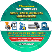 Presses, Crushers, Shot Blasting, Shredding Machines Data 2019