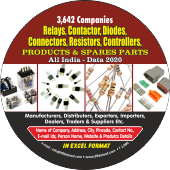 3,642 Relays, Contactors, Diodes Connectors Products & Spare Data - In Excel Format