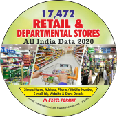 17,472 Retail & Departmental Stores (All India) Data - In Excel Format