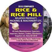 Rice & Rice Mills Product, Packing & Machinery Data