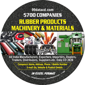 5,700 Rubber Products, Machinery  & Materials Data - In Excel Format