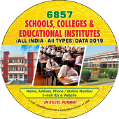 6,857 School, Colleges & Institutes  (All India) Data - In Excel Format