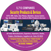 5,713 Security Products & Devices  Companies Data - In Excel Format