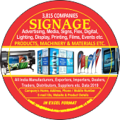 3,815 Signage Products, Machinery & Materials Data - In Excel Format
