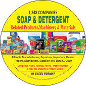 1,248 Soap & Detergent Products & Materials Data - In Excel Format