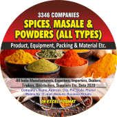 3,346 Spices, Masale & Powder Product Data - In Excel Format