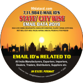 7,11,984 State & City Wise  Email Ids Data - In Excel Format