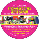 5,367 Stationery & Other Office Products Data - In Excel Format