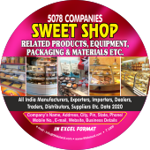 5,078 Sweet Shop - Related Products & Equipments Data - In Excel Format