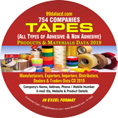 TAPES (All Types of Adhesive & Non Adhesive) Products & Materials Data
