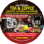 1,585 Tea & Coffee Products & Machine Data - In Excel Format