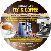 Tea & Coffee Products, Packing & Machine Data