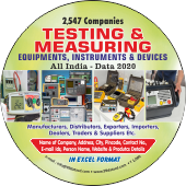 2,547 Testing & Measuring Devices  & Instruments Data - In Excel Format