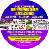 Three Wheeler Spares & Accessories All Types- All India Data 2019