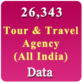 26,343 Tours & Travels (All India) Data - In Excel Format