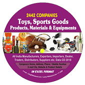 Toys, Sports Goods Products & Materials Data