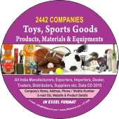 2,442 Toys, Sports Goods Products  & Materials Data - In Excel Format
