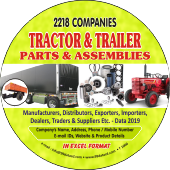 2,218 Tractor & Trailer Parts &  Assemblies Data - In Excel Format