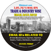3,85,767 Trade & Industry Wise  Email Ids Data - In Excel Format